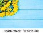yellow bouquet  flowers... | Shutterstock . vector #495845380