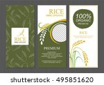 rice thailand food product... | Shutterstock .eps vector #495851620