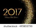 vector   2017 happy new year... | Shutterstock .eps vector #495853750