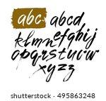vector acrylic brush style hand ... | Shutterstock .eps vector #495863248