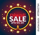 beautiful diwali sale banner... | Shutterstock .eps vector #495863764