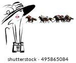 Woman In A Horse Racecourse...