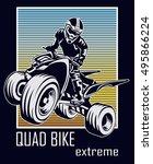 quad bike extreme typography...
