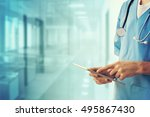 healthcare and medicine. doctor ... | Shutterstock . vector #495867430