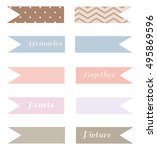 banners for planner or diary   Shutterstock .eps vector #495869596
