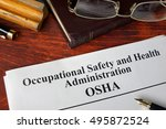 occupational safety and health... | Shutterstock . vector #495872524