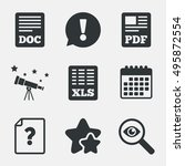 file document and question... | Shutterstock .eps vector #495872554