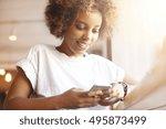 portrait of good looking...   Shutterstock . vector #495873499