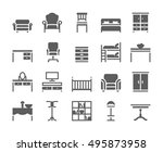 home and office furniture... | Shutterstock .eps vector #495873958