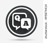 question answer sign icon. q a... | Shutterstock .eps vector #495874414