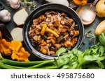 Cooked Forest Mushrooms In...