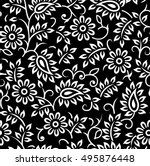 Floral Vector Black And White...