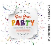 new year party poster template... | Shutterstock .eps vector #495882928