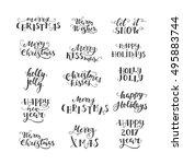 vector christmas lettering... | Shutterstock .eps vector #495883744