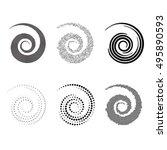 spiral vector illustration.... | Shutterstock .eps vector #495890593