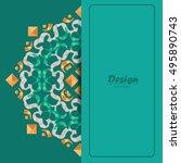 colorful beautiful mandala... | Shutterstock .eps vector #495890743