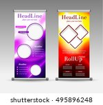 roll up banner abstract... | Shutterstock .eps vector #495896248