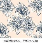 black and white seamless sample ... | Shutterstock .eps vector #495897250