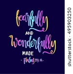 fearfully and wonderfully made. ... | Shutterstock .eps vector #495903250
