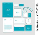 corporate identity  stationery... | Shutterstock .eps vector #495903910
