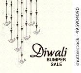vector illustration of a sale... | Shutterstock .eps vector #495904090
