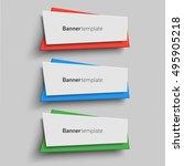 vector banner design templates  ... | Shutterstock .eps vector #495905218