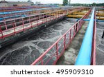 water treatment facility with... | Shutterstock . vector #495909310