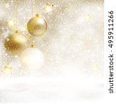 festive white beige christmas... | Shutterstock .eps vector #495911266