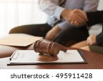 judge gavel with legal... | Shutterstock . vector #495911428
