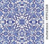 stylized flowers oriental... | Shutterstock .eps vector #495912268