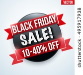 black friday sale badge and... | Shutterstock .eps vector #495917938