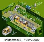underground infographic... | Shutterstock .eps vector #495922009