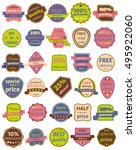 set of thirty vector badges... | Shutterstock .eps vector #495922060