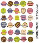 set of thirty vector badges...   Shutterstock .eps vector #495922060