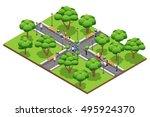 isometric landscaping... | Shutterstock .eps vector #495924370