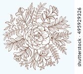 round floral pattern. vector... | Shutterstock .eps vector #495929326