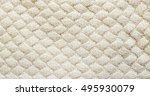 white knitted carpet closeup.... | Shutterstock . vector #495930079