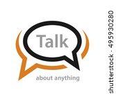 speech bubble talk icon vector | Shutterstock .eps vector #495930280