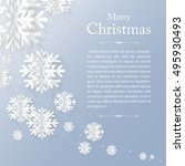 graphic christmas card with... | Shutterstock .eps vector #495930493