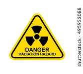 danger radiation hazard sign... | Shutterstock .eps vector #495933088