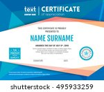Modern Certificate With Blue...