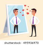 narcissistic man character... | Shutterstock .eps vector #495936970