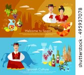 spain banners traditions and... | Shutterstock .eps vector #495937078