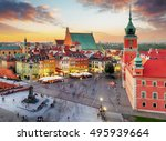 night panorama of old town in... | Shutterstock . vector #495939664