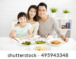 Happy Asian Young Family Enjoy...