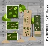 set of nature themed labels and ... | Shutterstock .eps vector #495946720