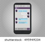 smartphone isolated with... | Shutterstock .eps vector #495949234