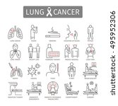 lung cancer. . symptoms  causes ... | Shutterstock .eps vector #495952306