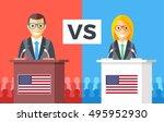 presidential debates.... | Shutterstock .eps vector #495952930
