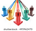 leader of competition. business ... | Shutterstock . vector #495962470